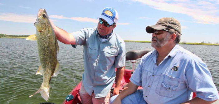 Big walleye tactics in shallow water south dakota glacial for South dakota walleye fishing