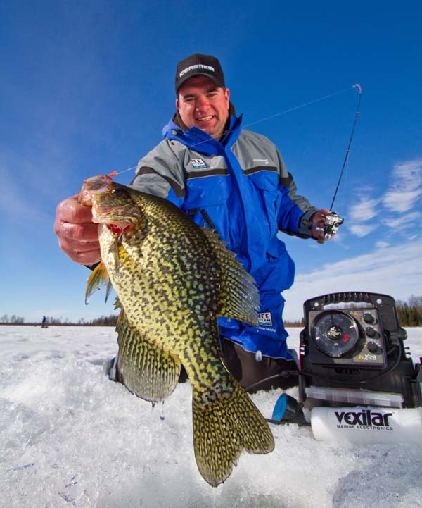 The author Jason Mitchell shares some insights and strategies for catching more crappie this winter.