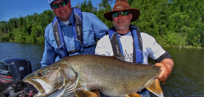 Master Angler Manitoba Lake Trout in Shallow Water